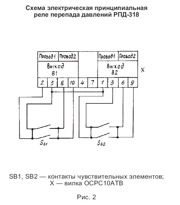 Дифференциальное реле схема подключения